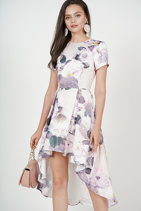 Masha Flare Dress in Blush Floral