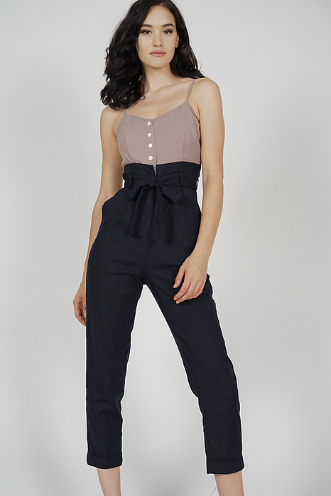 Aster Cami Jumpsuit in Brown Midnight - Arriving Soon