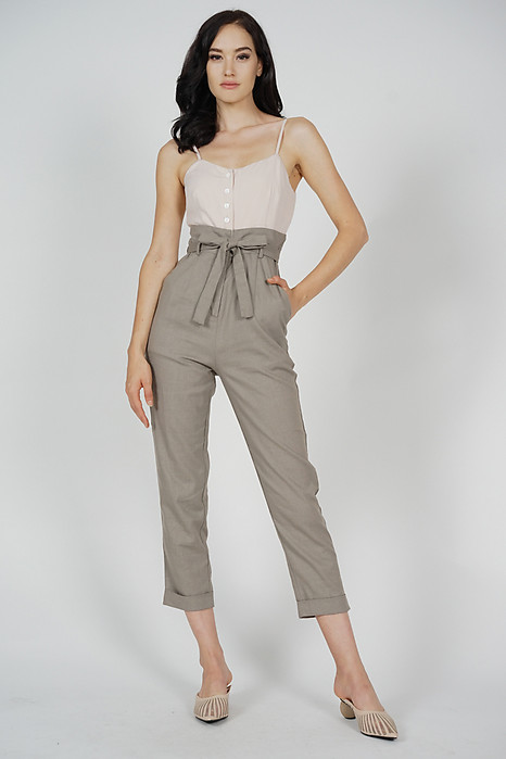Aster Cami Jumpsuit in Nude Taupe - Arriving Soon
