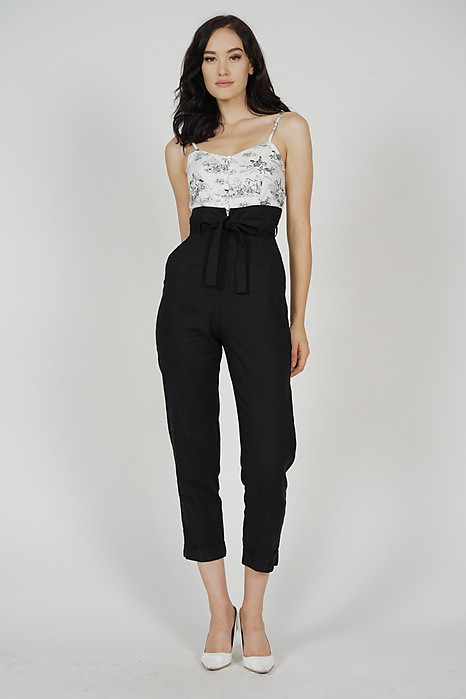 Aster Cami Jumpsuit in White Horse