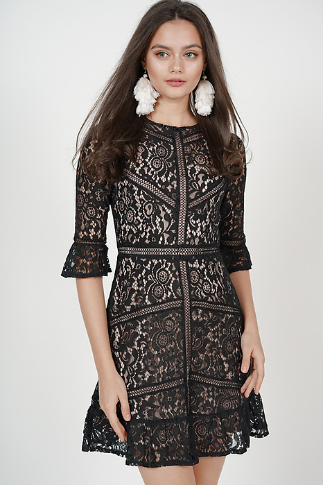 Georgia Lace Dress in Black