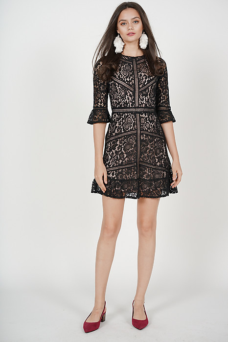 Georgia Lace Dress in Black - Arriving Soon