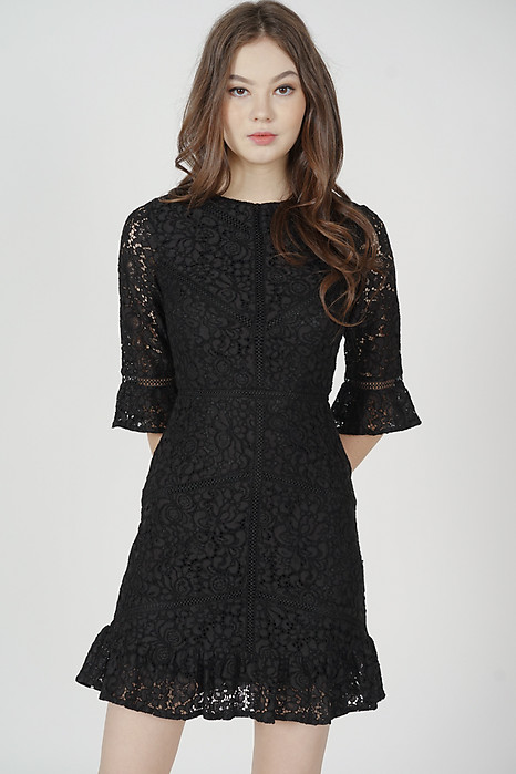 Dallon Lace Dress in Black - Arriving Soon