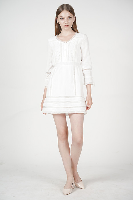 Mirabelle Dress in Off White