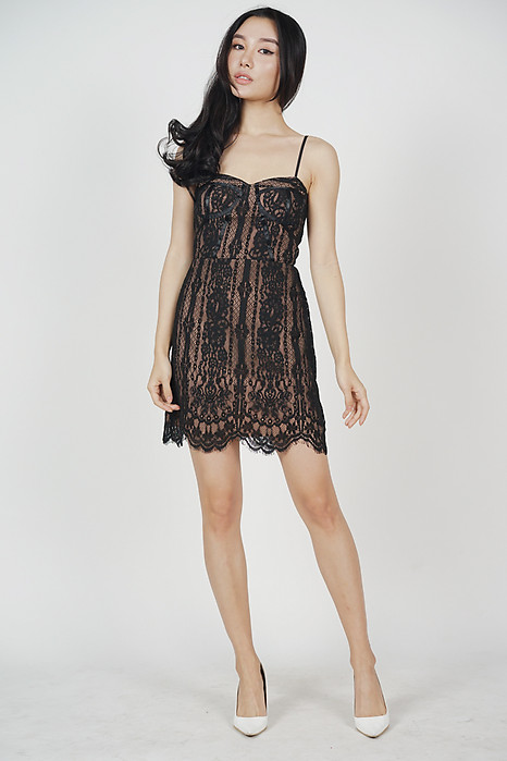 Melba Lace Dress in Black