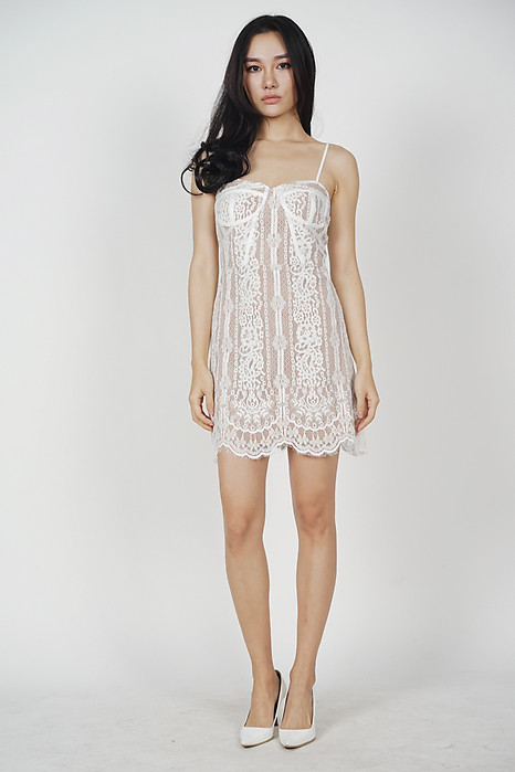 Melba Lace Dress in White