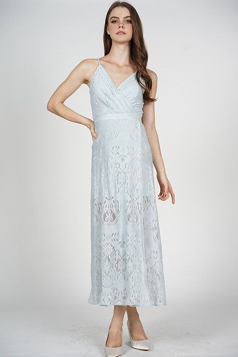 Flavia Maxi Dress in Light Blue