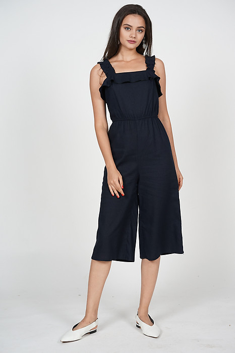 Adira Frilly Jumpsuit in Navy