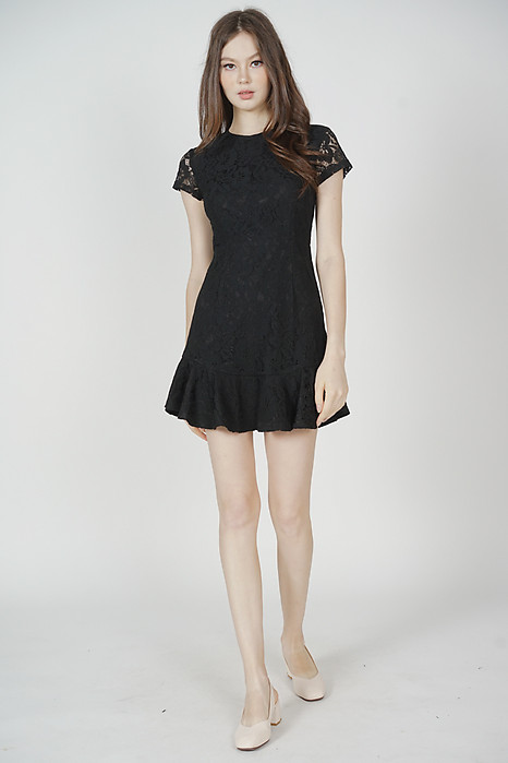 Nataline Lace Dress in Black