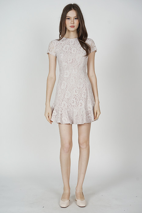 Nataline Lace Dress in Pink - Arriving Soon