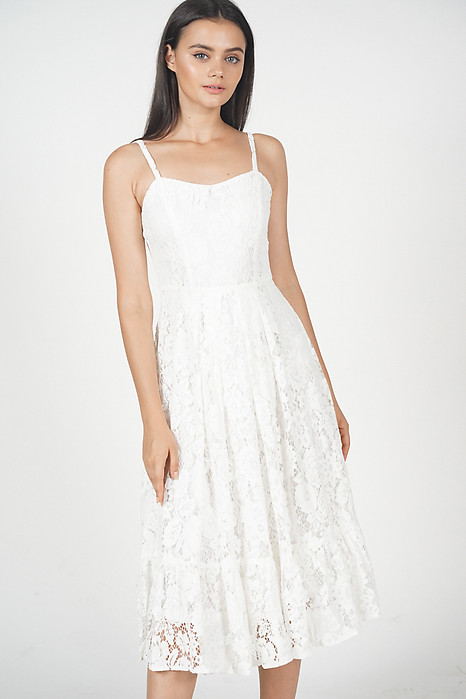 Jennisa Lace Dress in White