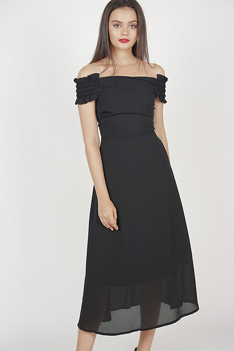 Emeril Flare Dress in Black
