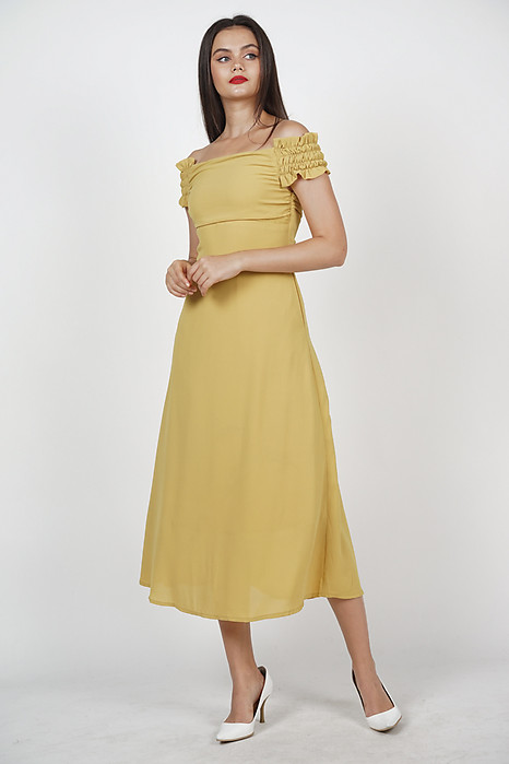 Emeril Flare Dress in Mustard