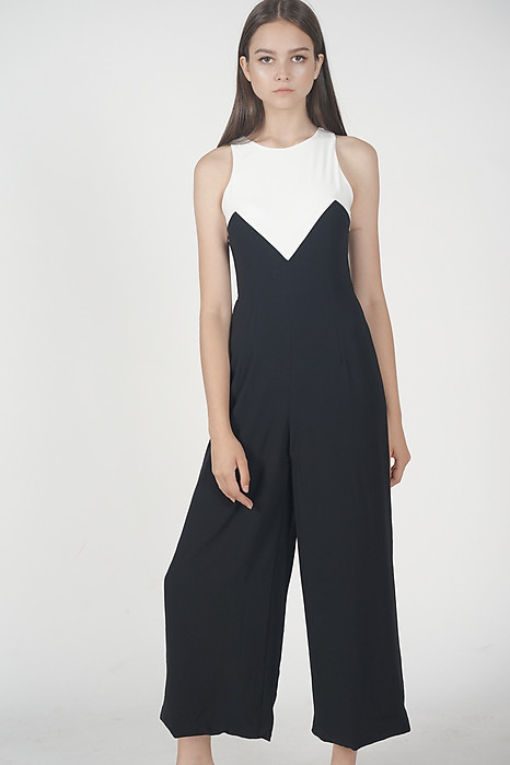 Jamina Contrast Jumpsuit in White