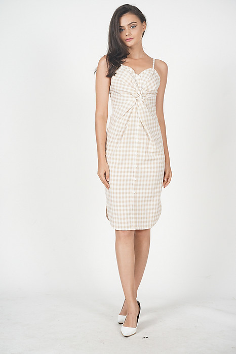 Sophitia Knot Front Dress in Cream