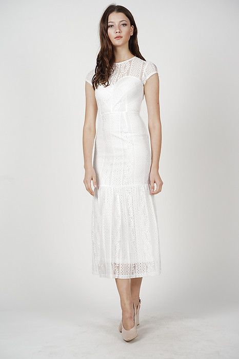 Agatha Lace Dress in White