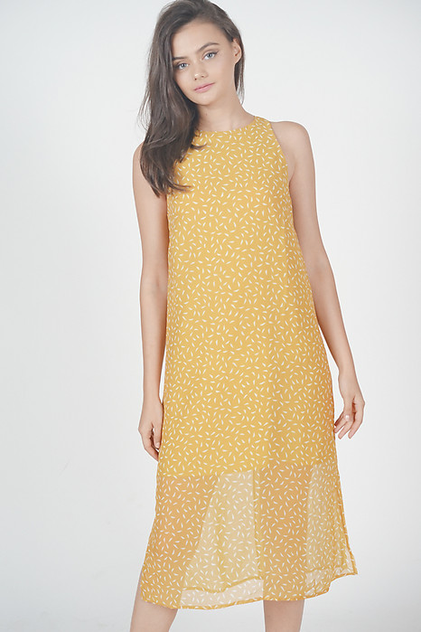 1f9443c713 Nikoletta Straight Dress in Mustard