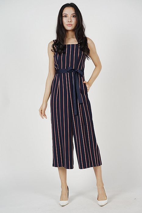 Helaine Jumpsuit in Midnight Stripes