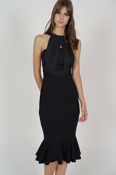 Ouana Halter Dress in Black - Arriving Soon