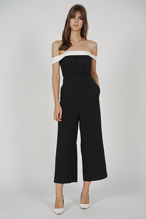 Krissa Pleated Jumpsuit in Black