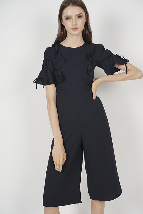 Zoeva Ruffled Jumpsuit in Black
