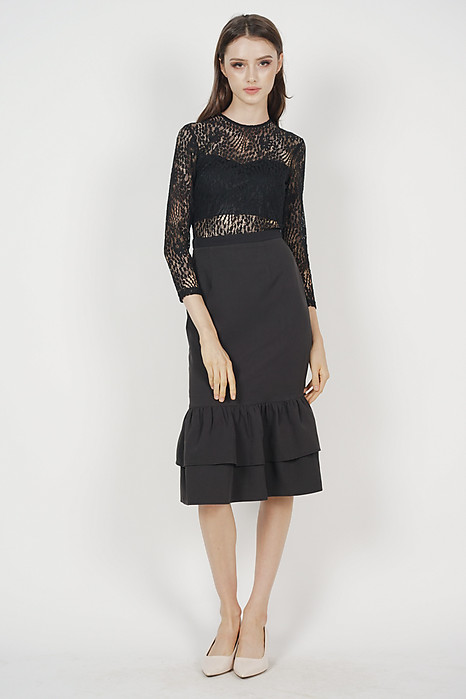 Celine Lace Dress in Black