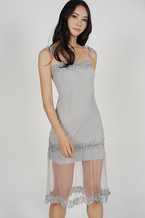 Naila Cami Dress in Grey
