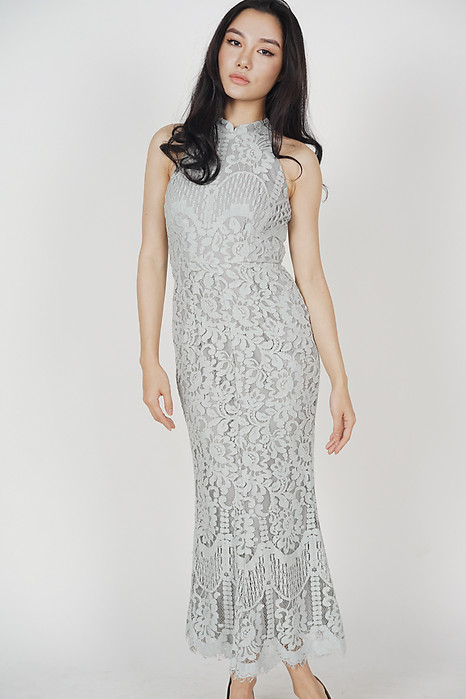 Raielyn Lace Dress in Grey