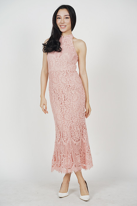Raielyn Lace Dress in Pink
