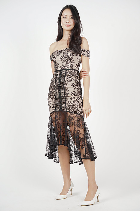 Amie Lace Dress in Black - Arriving Soon