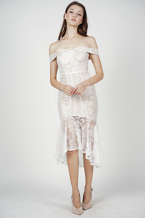 Amie Lace Dress in White - Arriving Soon