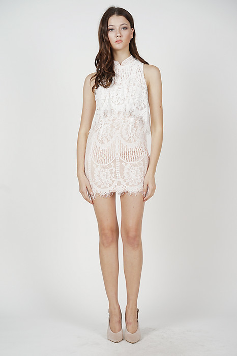 Dorian Lace Dress in White