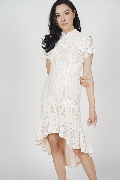 Anni Cheongsam Dress in White