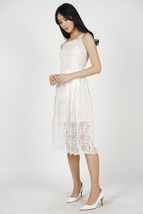 Jovita Lace Dress in White