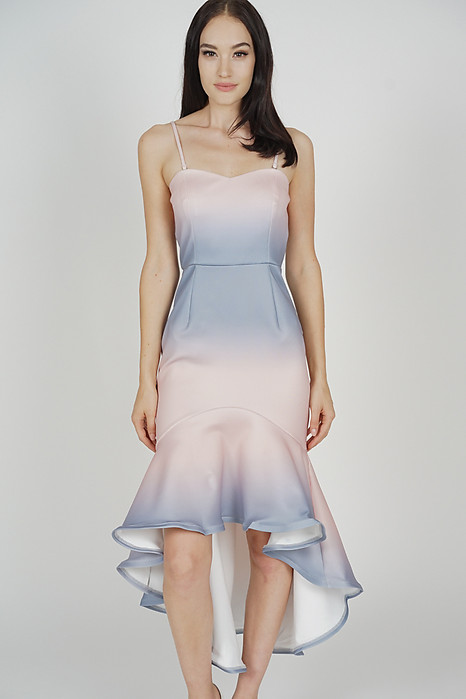 Franka Mermaid Dress in Blue Pink - Arriving Soon