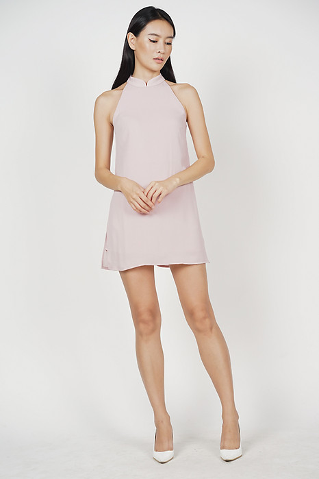 Frona Skorts Romper in Blush