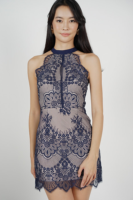 Friesha Lace Dress in Midnight