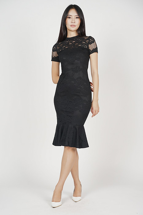 Jayrie Mermaid Dress in Black - Arriving Soon