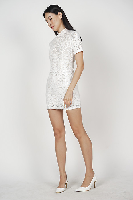 Catrina Lace Dress in White