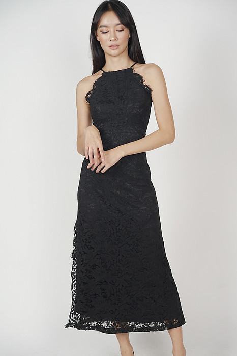Sirena Lace Dress in Black