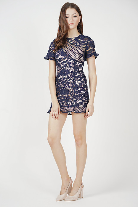 Marya Lace Dress in Midnight