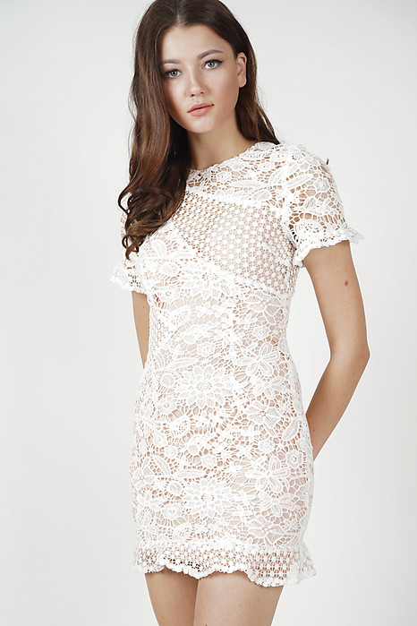 Marya Lace Dress in White