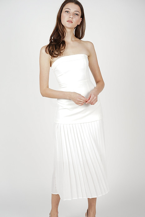 Klarei Tube Dress in White