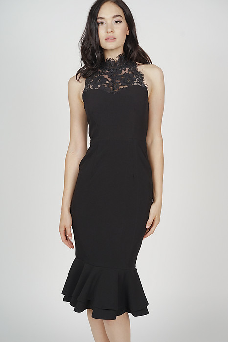 Ayrin Mermaid Dress in Black