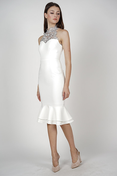 Ayrin Mermaid Dress in White - Arriving Soon