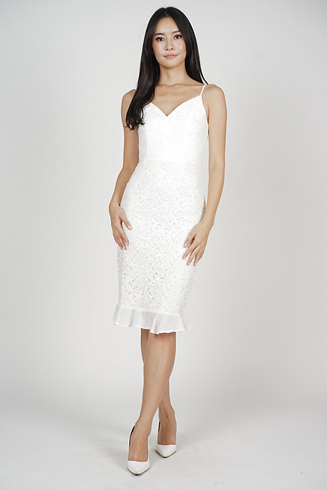 Karsyn Lace Dress in White - Arriving Soon