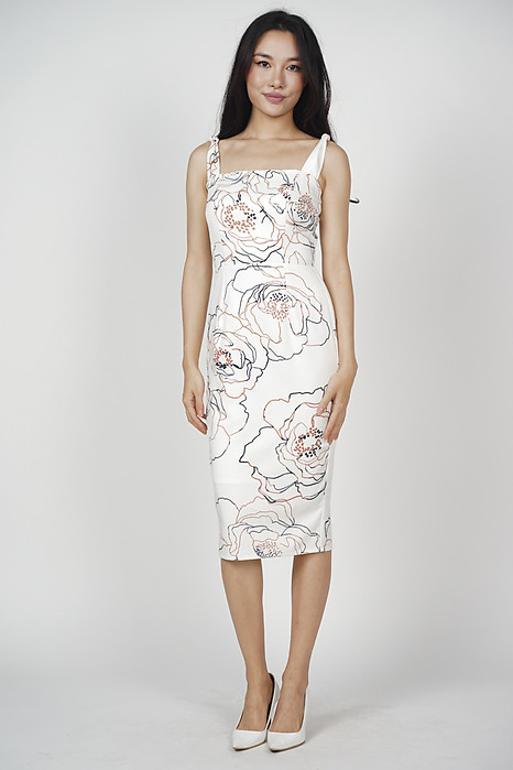 Glenda Midi Dress in White - Online Exclusive