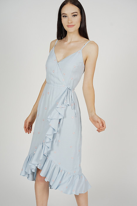 Jazmi Cami Dress in Ash Blue Floral - Arriving Soon