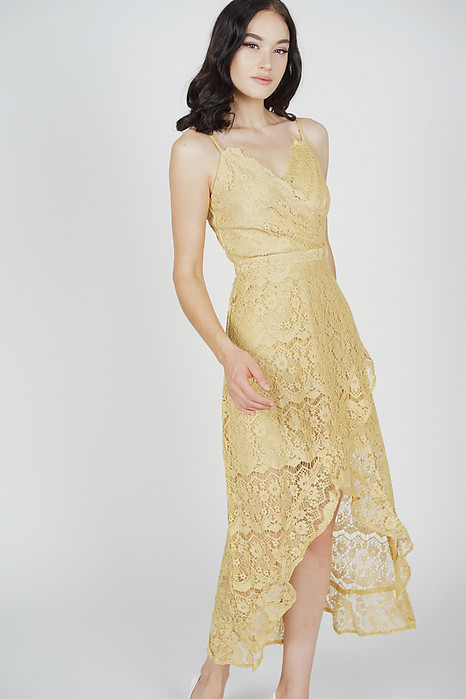 Orianna Lace Dress in Buttercup