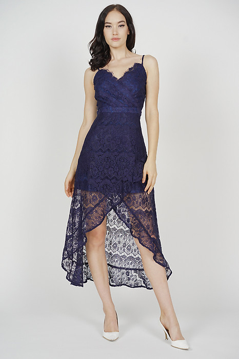 Orianna Lace Dress in Midnight